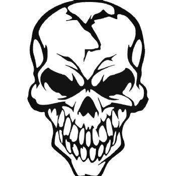 Skull Cracked Car Stickers Motorbike Vinyl Decals Fairings Panniers